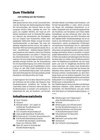 Inhaltsverzeichnis Heft 1