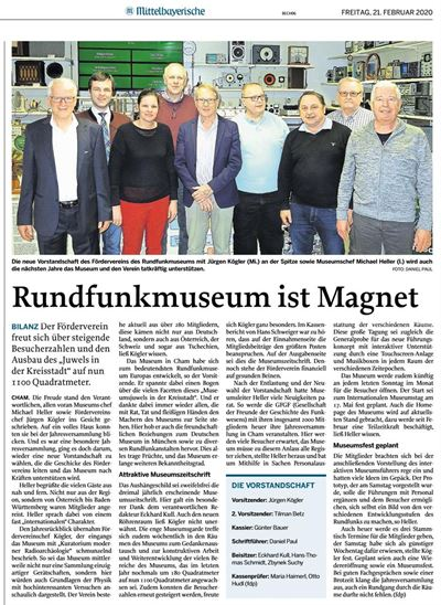 2020-02-21 - Echo JHV Rundfunmuseum Cham